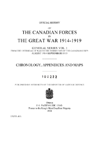 Official History of the Canadian Forces in the Great War, 1914-1919, Vol I Part 2