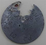 Sergeant Milne's identification disc