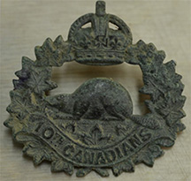 Cap badge of the 10th Battalion CEF