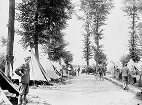 Tents of the 10th Bn. May 1916