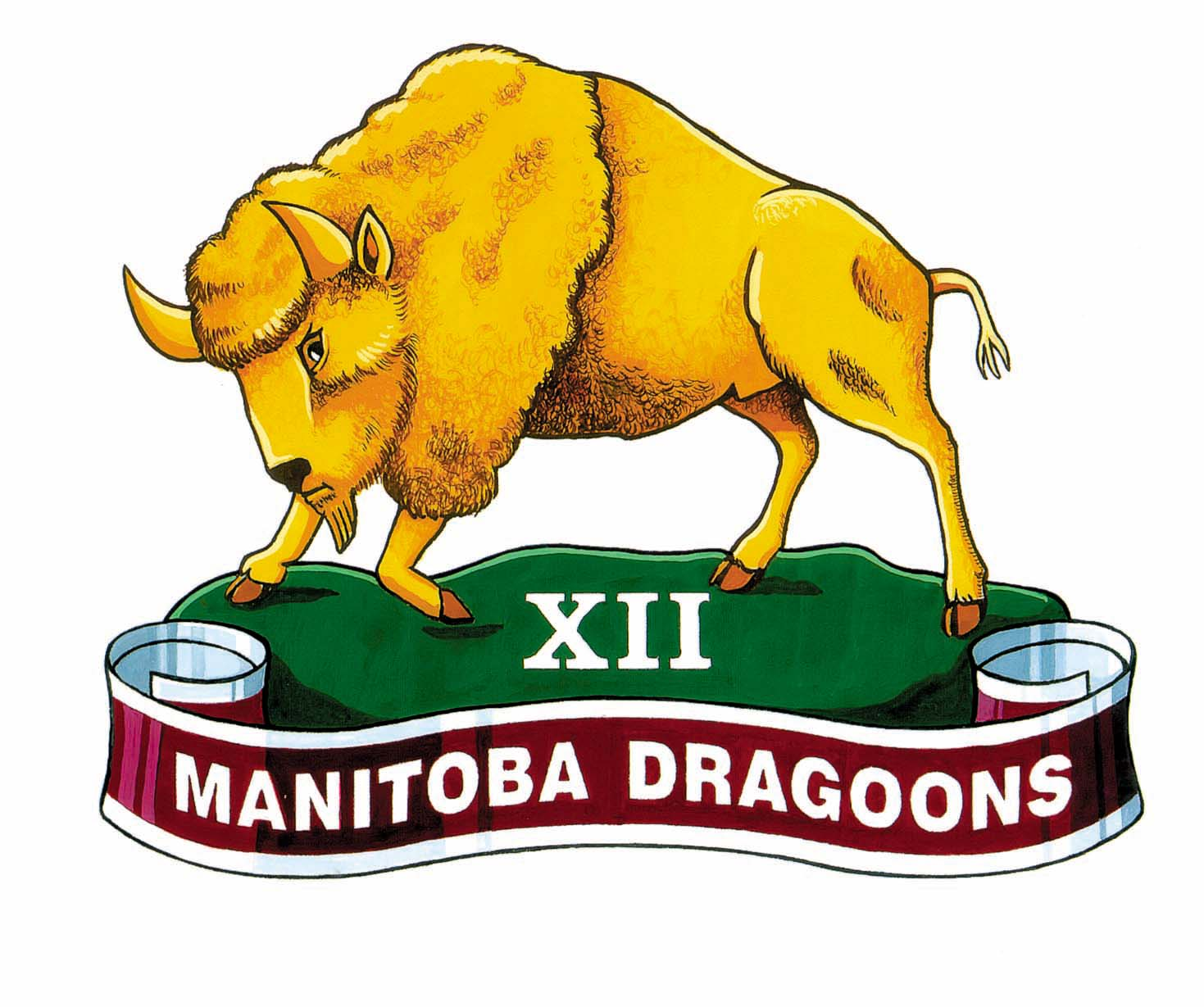 12TH MANITOBA DRAGOONS BADGE