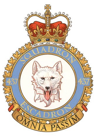 437 Transport Squadron Badge