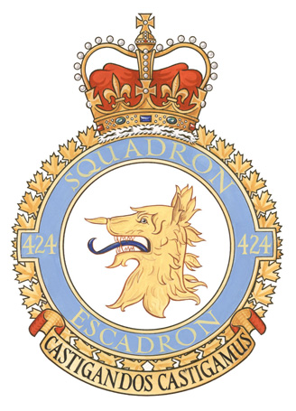 424 Transport and Rescue Squadron Badge