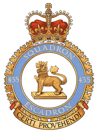 435 Transport and Rescue Squadron Badge