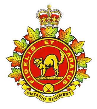 The Ontario Regiment (RCAC) Badge