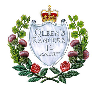 INSIGNE DE THE QUEEN'S YORK RANGERS (1ST AMERICAN REGIMENT) (RCAC)