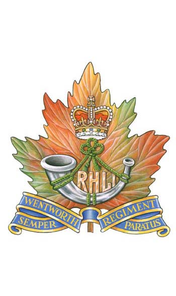The Royal Hamilton Light Infantry (Wentworth Regiment) Badge