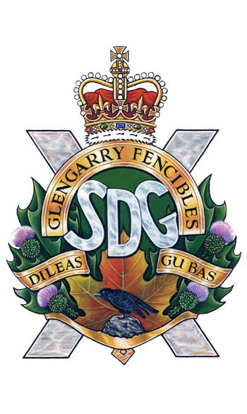 Stormont, Dundas and Glengarry Highlanders Badge