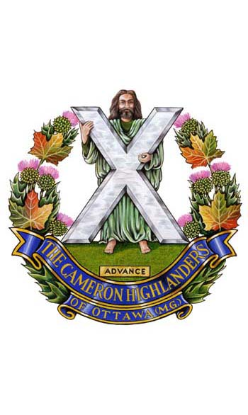 Insigne de The Cameron Highlanders of Ottawa