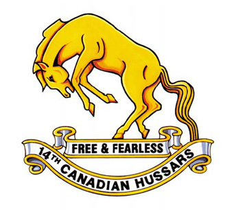 14th Canadian Hussars Badge