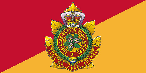 The Cape Breton Highlanders have No Registered Camp Flag