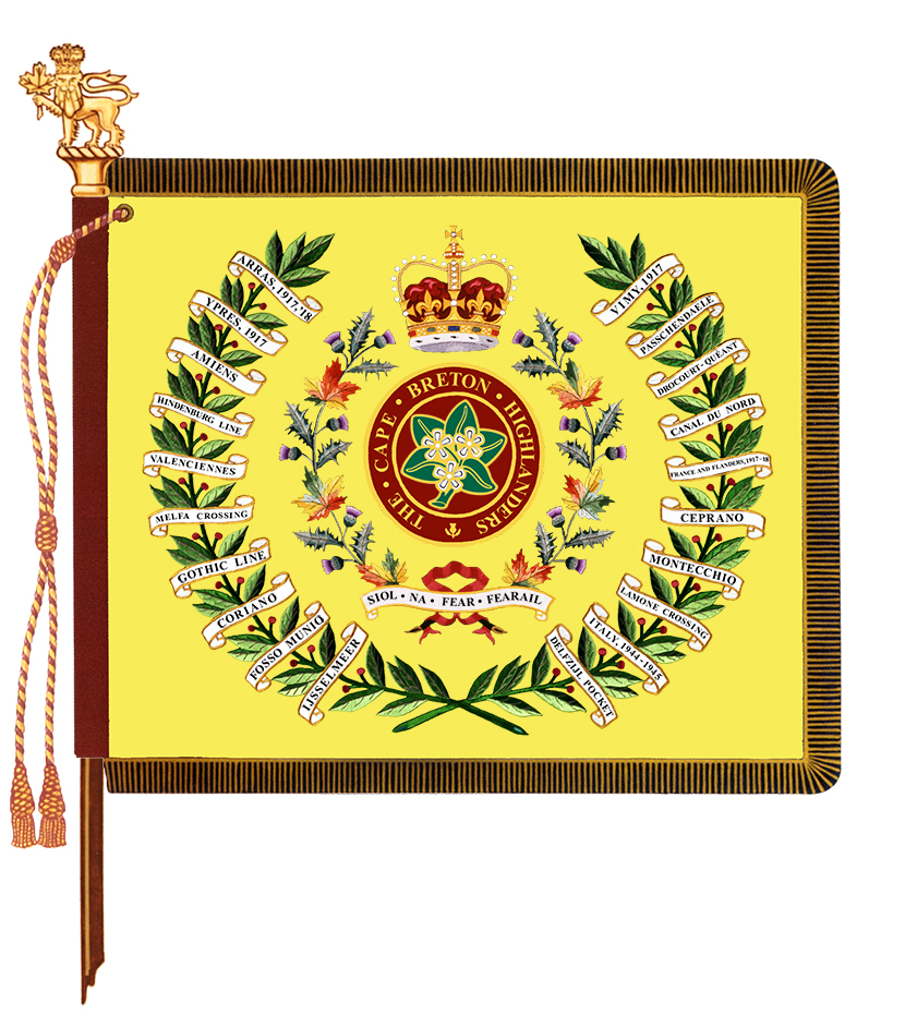 The Cape Breton Highlanders Regimental Colours