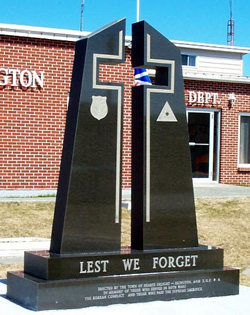 The Hearts Delight War Memorial, Hearts Delight, Newfoundland and Labrador.