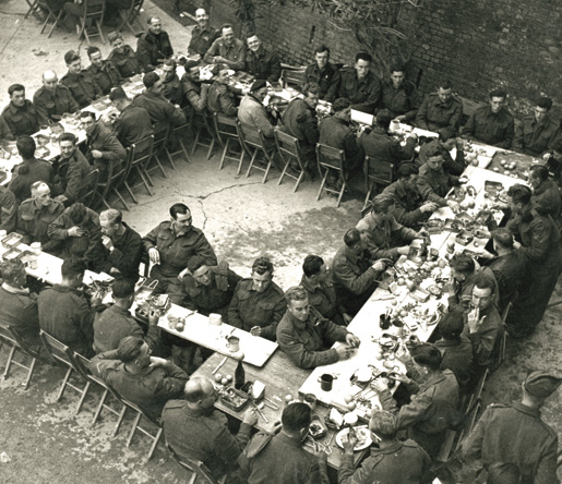 Ortona, Italy, Christmas Dinner 1943, Library and Archives Canada, PA 152839